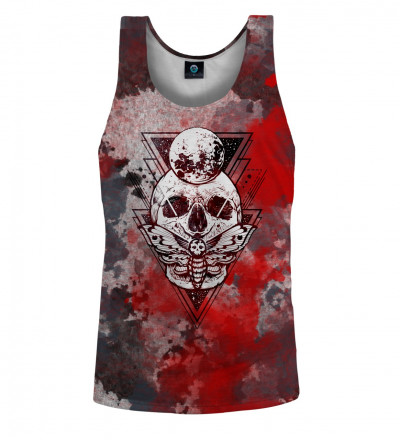 tank top with moth and skull motive