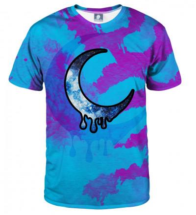 koszulka tie dye z motywem półksiężyca