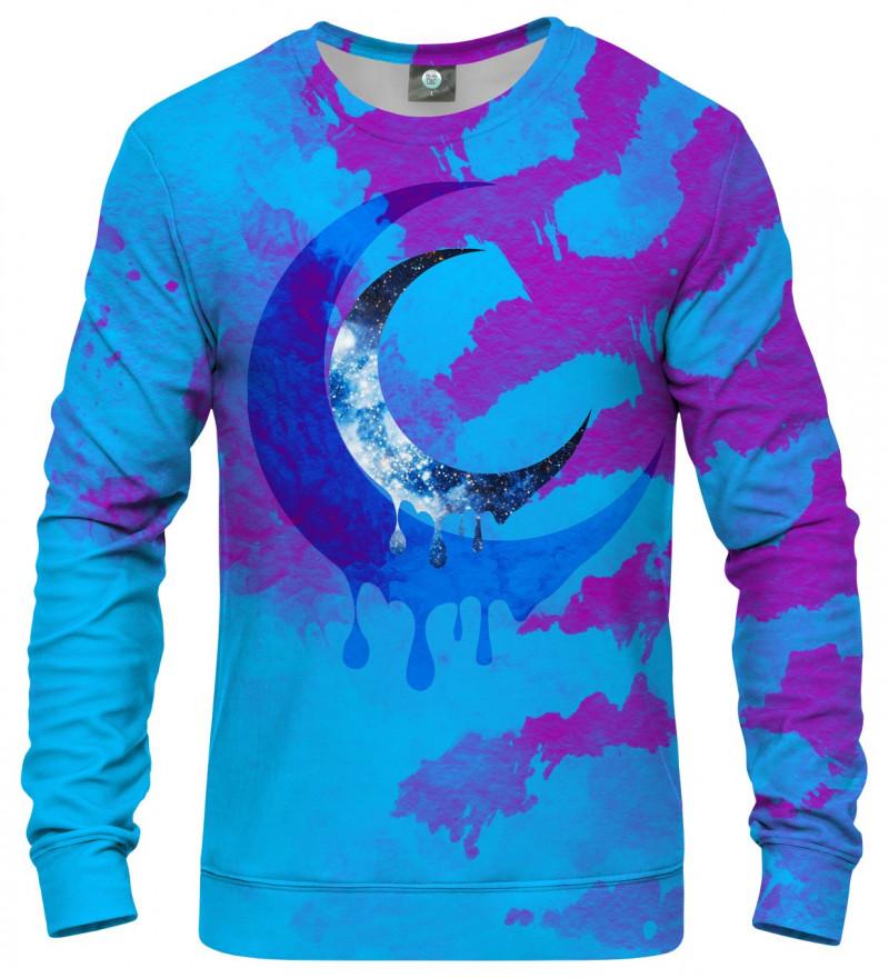 tie dye sweatshirt with crescent motive