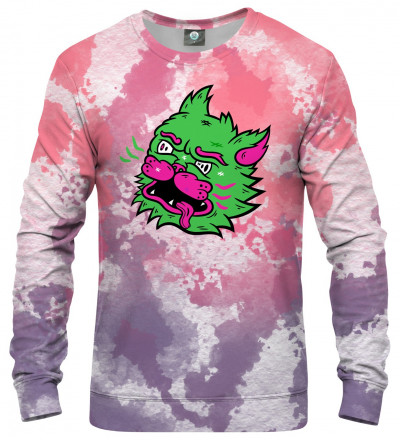 sweatshirt with tie dye motive