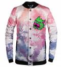 Bizarre Tie Dye baseball jacket