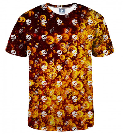 koszulka z motywem piwa i czaszek