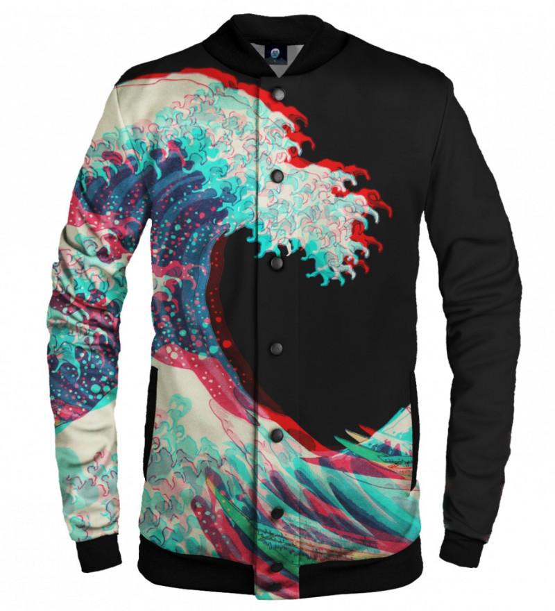 baseball jacket with art motive