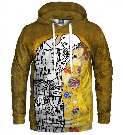bluza z kapturem z motywem artystycznym