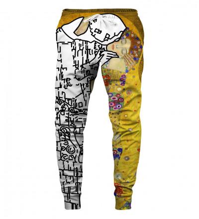 sweatpants with art motive