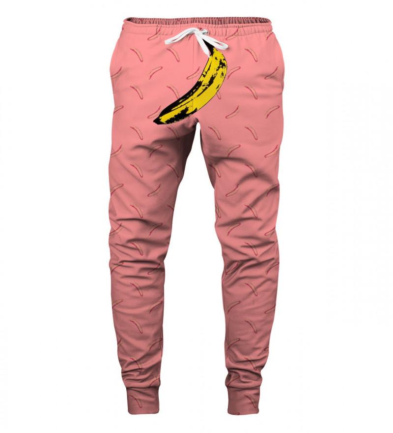 spodnie z motywem banana