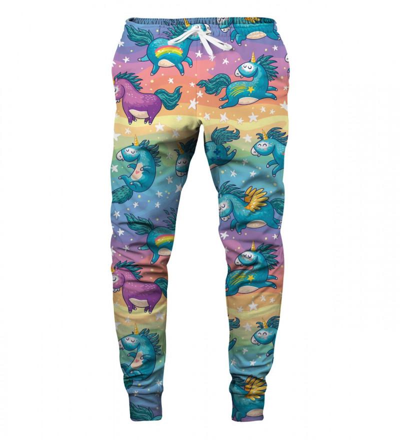 sweatpants with unicorns motive