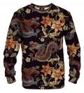 sweatshirt with japanese dragon motive