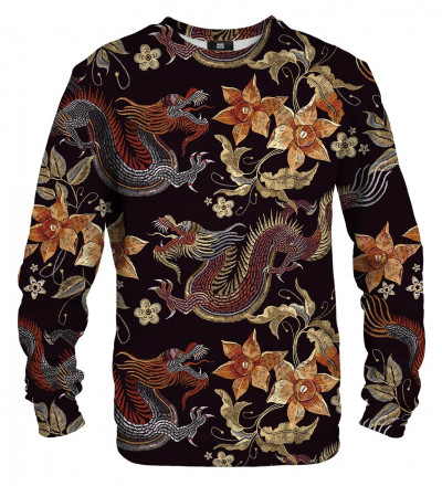 sweatshirt with japanese dragon motive