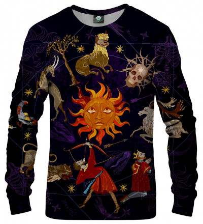sweatshirt with astrological motive