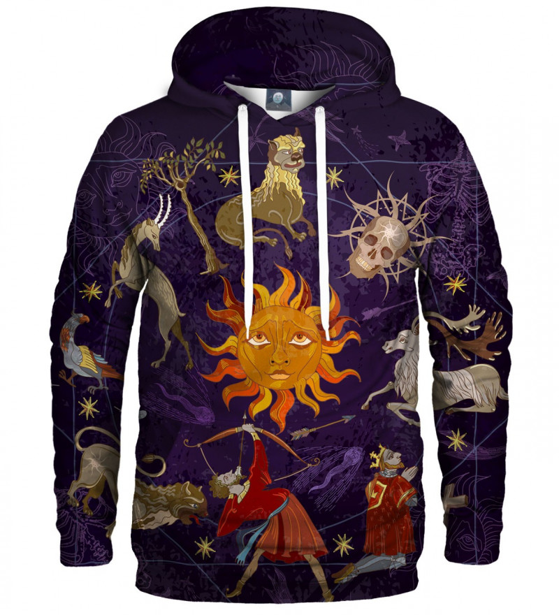 hoodie with astrologicam motive