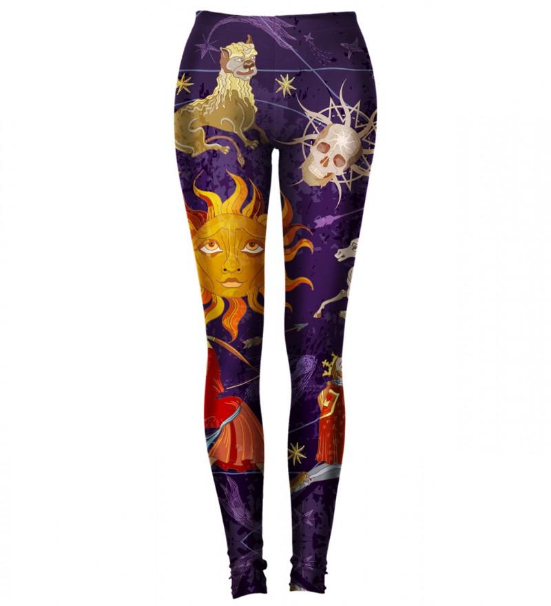 legginsy z motywem astrologicznym