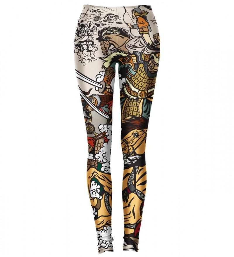 leggings with battle motive