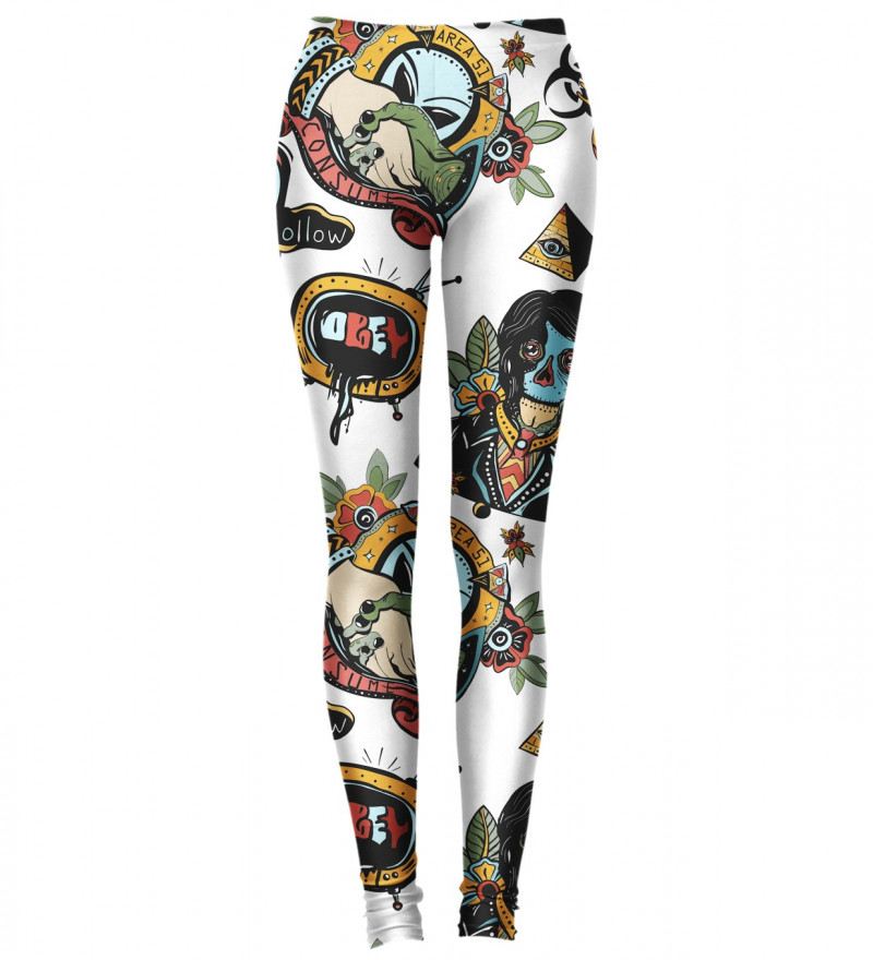 leggings with ufo motive