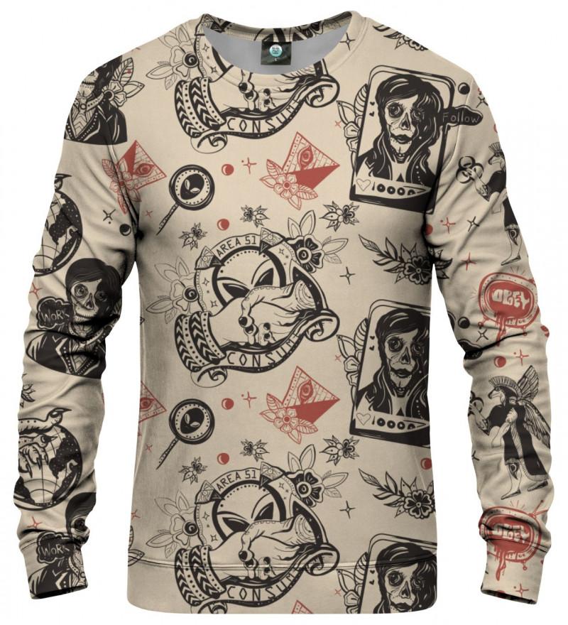 sweatshirt with ufo motive