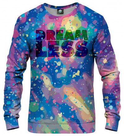 colorful sweatshirt with dreamless inscription