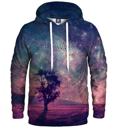 hoodie with tree motive
