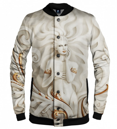 baseball jacket with art motive