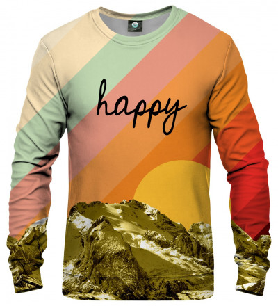 colorful sweatshirt with happy inscription