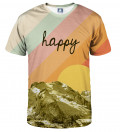 colorful tshirt with happy inscription