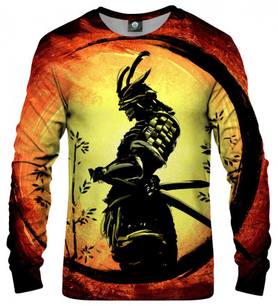 sweatshirt with samurai motive