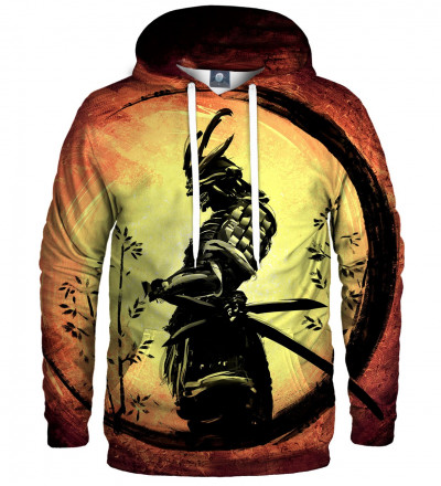 hoodie with samurai motive