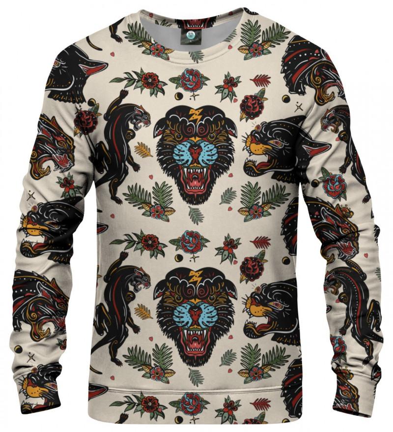sweatshirt with panther motive