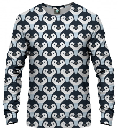 sweatshirt with penguins motive