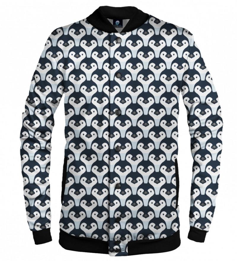 baseball jacket with penguin motive