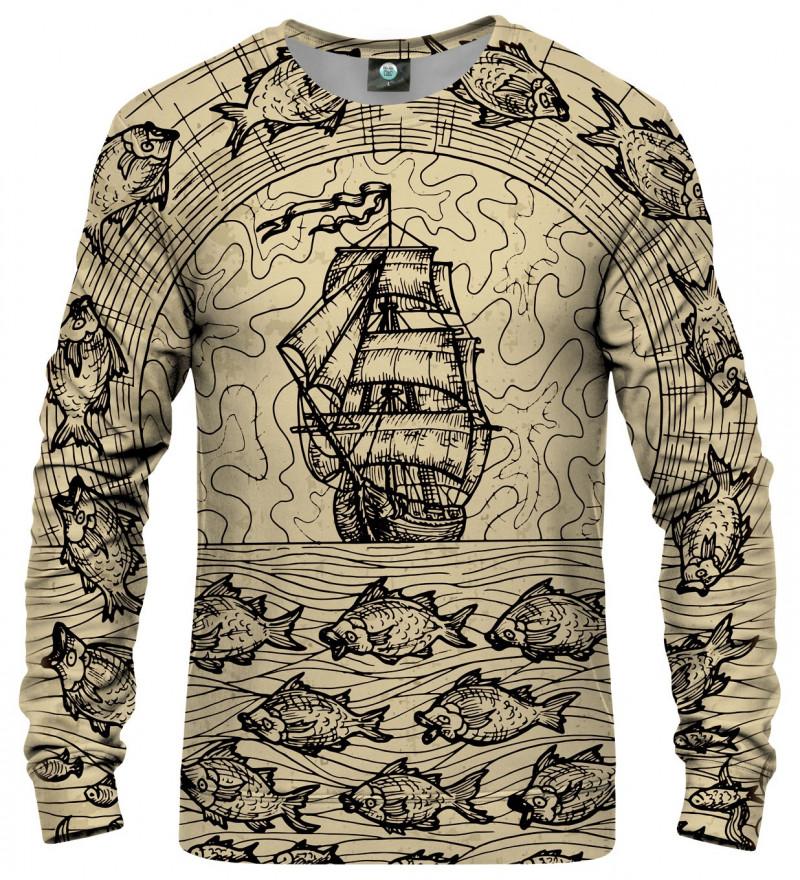 sweatshirt with sailing motive