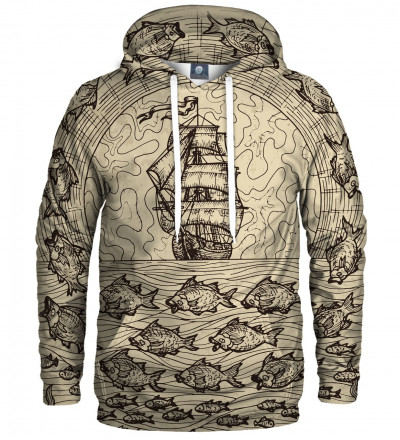 hoodie with sailing motive