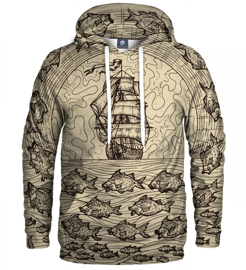 hoodie with sailing motive