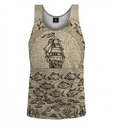 tank top with sailing motive