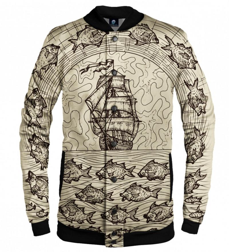 baseball jacket with sailing motive