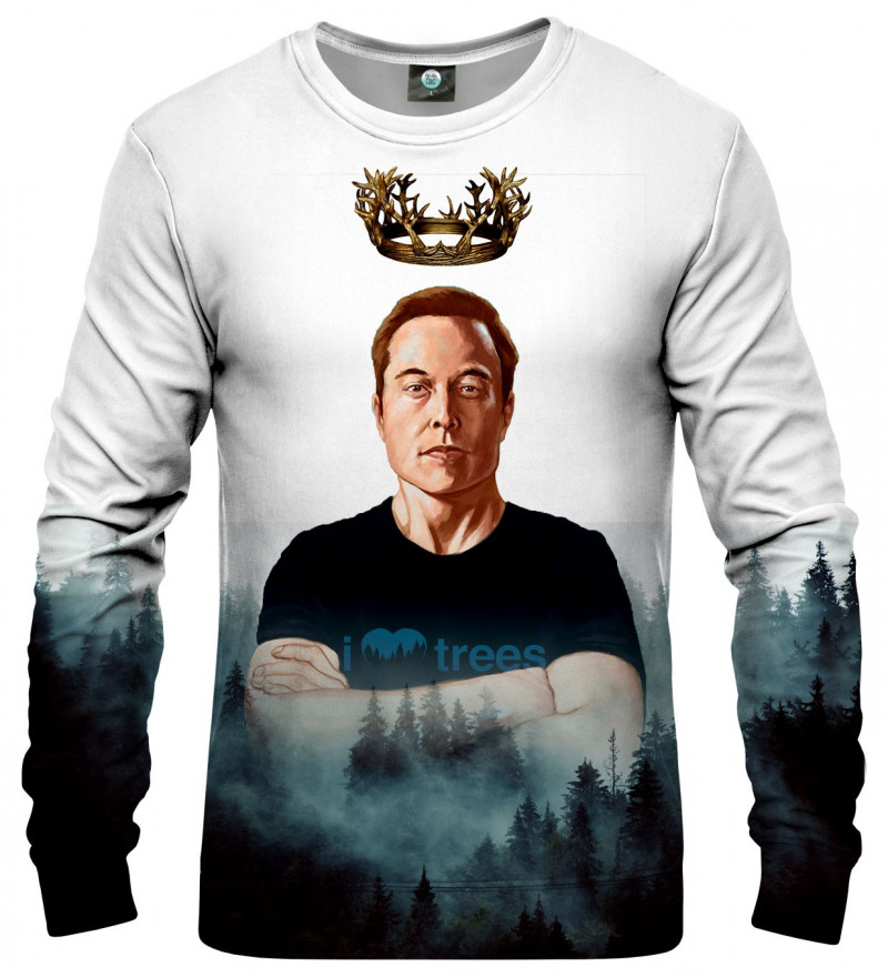 sweatshirt with elon musk motive