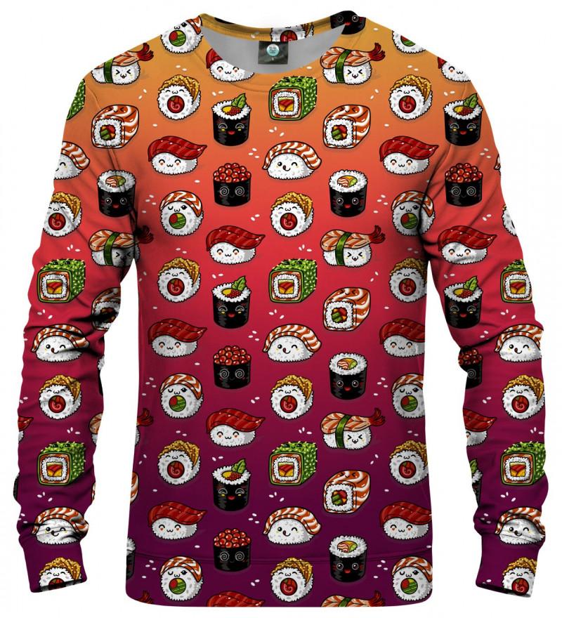 sweatshirt with sushi motive