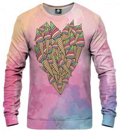 bluza z motywem serca z lodów