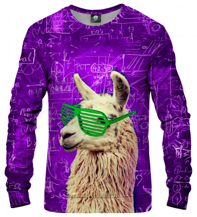 sweatshirt with lama motive