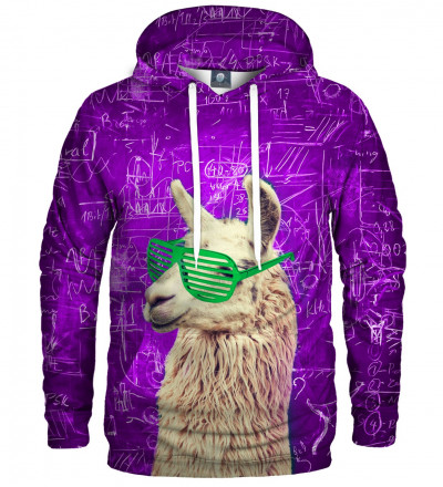hoodie with lama motive