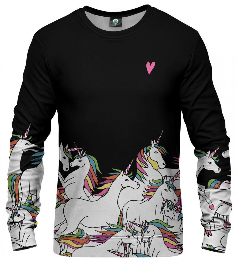 sweatshirt wtih unicorn motive