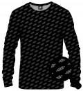 black sweatshirt with inscription