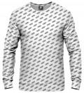 biała bluza z napisami