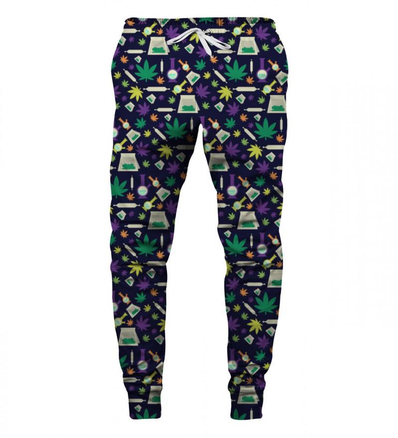 spodnie z motywem zabawnych rzeczy
