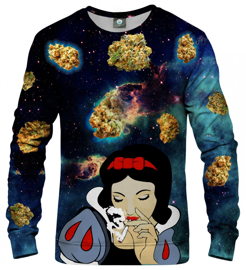 sweatshirt with cosmos and snow white motive