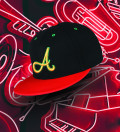 black and red snapback