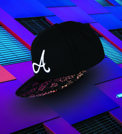 black snapback with florall motive