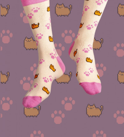 socks with cats motive