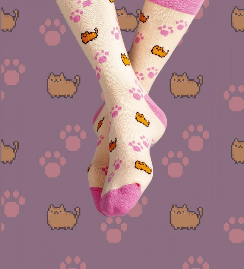 socks with cats motive