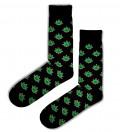 bawełniane skarpetki z motywem liści marihuany