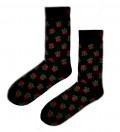 socks with roses motive